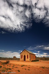 Small Church in Silverton, Outback NSW, Australia (-yury-) Tags: sky church landscape silverton australian australia nsw outback brokenhill outbackaustralia