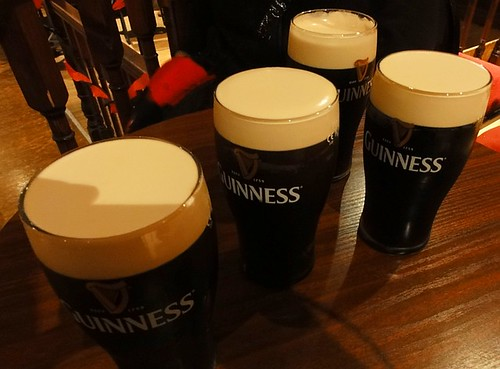 Line up the Guinness
