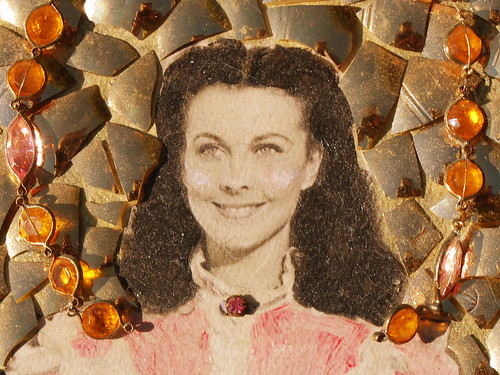 vintage vivian leigh trash art by tiffanycsteinke