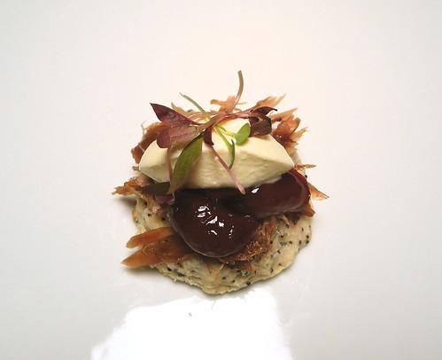 Buttermilk-Poppy Seed Biscuit, Duck Confit, Savory Cherry ...
