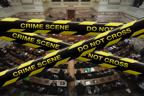 Greek Parliament - crime scene by Teacher Dude's BBQ
