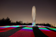 Technicolour Dream-coat........ (Digital Diary........) Tags: longexposure light sculpture lightpainting head stripes dream led le paintingwithlight sthelens multicolour merseyside technicolour juameplensa dreamsculpture