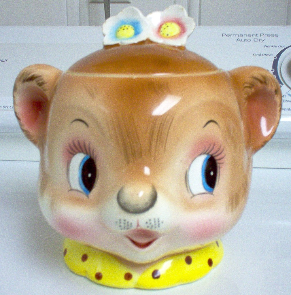 PY/Enesco Bear Head Cookie Jar
