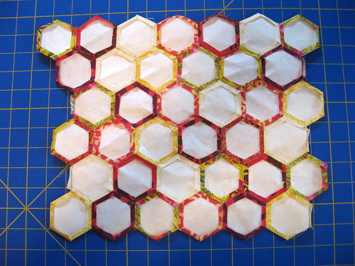 back of hexagon block