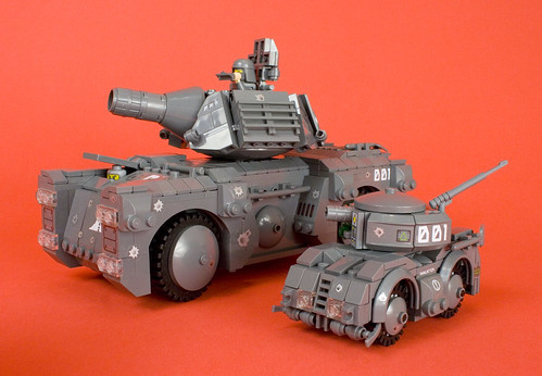 Urban Combat Umanned Scout Tank (U.C.U.S.T.) with Full-Size Tank