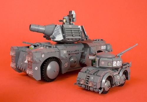 Urban Combat Umanned Scout Tank (U.C.U.S.T.) with Full-Size Tank