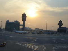 Sunset at Hongkong Airport