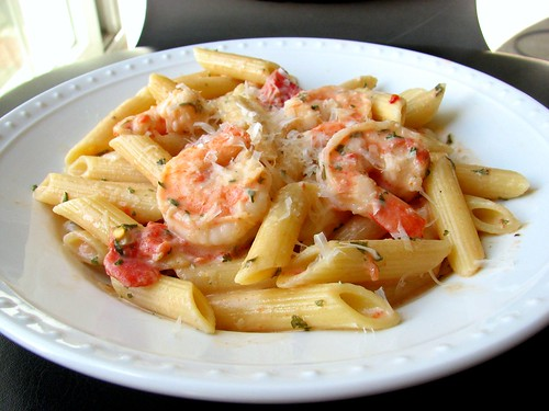 Penne w/Shrimp & Herbed Cream Sauce