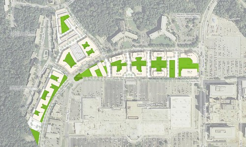 Site Plan With Green Space