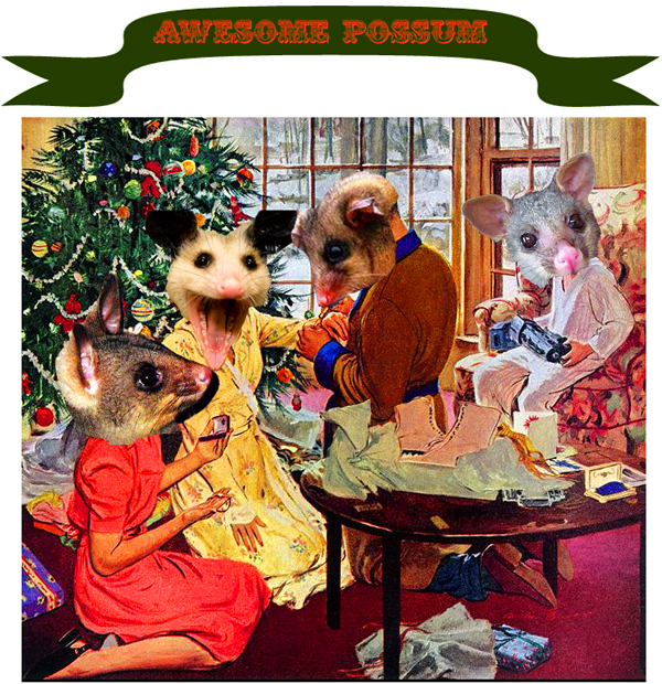 Mademoiselle Robot presents: the Awesome Possum Christmas Extravaganza