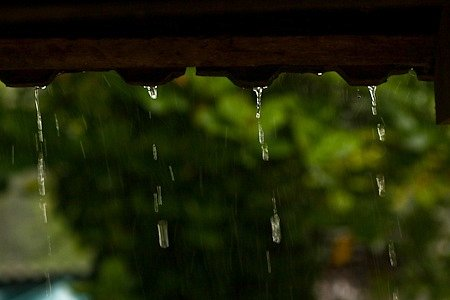 Chitra Aiyer - Rain dripping from the tiled roof