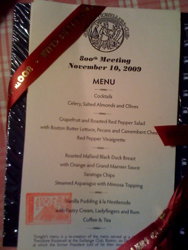 Harvard travellers club dinner