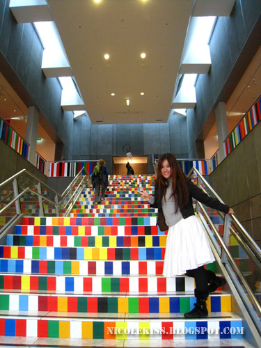colorful staircase of art gallery