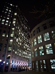 Vancouver Public Library (Miss Annie80) Tags: architecture night vancouver britishcolumbia library leicadlux4 tgamcitystreetscapes