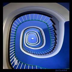 blue spiral (sediama (break)) Tags: blue stairs germany pentax hannover treppe explore staircase blau treppenhaus k20d sediama bysediamaallrightsreserved