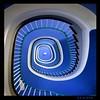 blue spiral (sediama (break)) Tags: blue stairs germany pentax hannover treppe explore staircase blau treppenhaus k20d sediama ©bysediamaallrightsreserved