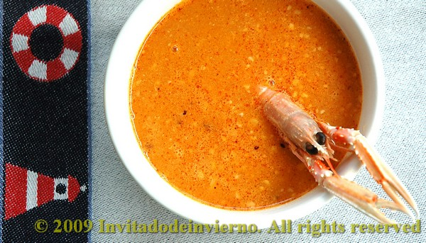 fish and shellfish soup with picada