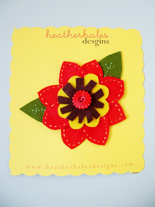poinsetta barrette GIVEAWAY!