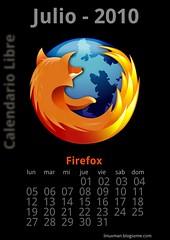 Julio 2010 Calendario libre