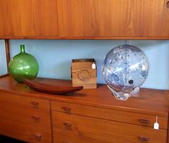Vintage globe - 60's clear acrylic on display