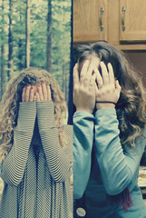 brianna and I covering our face