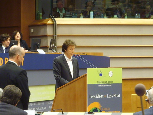 Sir Paul McCartney at European Parliament by ajburgess, on Flickr