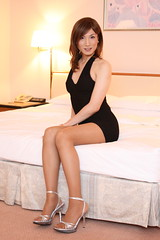 LBD_16 (Kyoko Matsushita) Tags: stockings fetish asian tv legs cd crossdressing tgirl transvestite pantyhose crossdresser kyoko  matsushita nylon jambes beine minidress strumpfhose fetisch  collant  ftiche