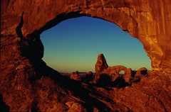 North Window and Turret Arches (Fly Sandman) Tags: utah moab archesnationalpark turretarch northwindowarch
