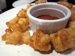 Crispy Ewenity Curds. A shareable tasty snack. With house-made ketchup.