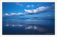 Magic Hour (Equus Images) Tags: seascape beach water clouds reflections island twilight dusk nsw bluehour fingalheads