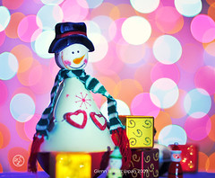 Merry Christmas to all my Flickr friends.  Glenn E Waters. Over 7,500 visits to this image.  Thank you. (Glenn Waters in Japan.) Tags: santa christmas xmas pink love smile japan happy gold snowman nikon bokeh f14 explore gift presents merry 2009  goodwill    nikkor85mmf14d nikkor85mm14d  d700  eplored nikond700  glennwaters nikkor85mmf14dphotos