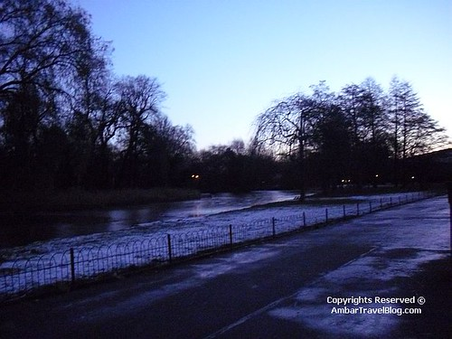 Frozen Lake In Regents Park