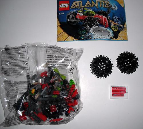 2010 LEGO Atlantis 8059 Seabed Scavenger