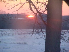 Missouri sunset in Winter (kristales777) Tags: snow nature country missouri sunsetinwinter