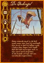 """""""De Pechvogel"""" rolkaart uit mijn zelfgemaakte Weerwolven mega-set"""