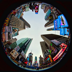Times Square Fished (saebaryo) Tags: nyc newyorkcity canon sigma fisheye timessquare 8mm sigma8mmf35exdgcircularfisheye canoneos5dmarkii 5d2 5dii