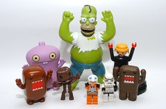 HAPPY NEW YEAR ! (kingkong21) Tags: lego domo homer stormtrooper hulk pilot playmobil racer babo sackboy