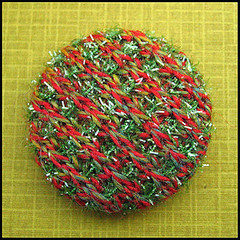 Knitted button (Birthine) Tags: knitting buttons knit button knap strik knapper