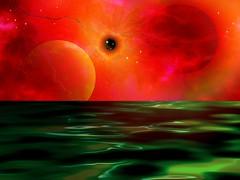 Emerald Waters FireStorm - RuthArt (RuthArt) Tags: desktop water space firestorm 1024x768 ruthart amazingeyecatcher