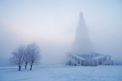 Kolomenskoe (Y0ZHIK) Tags: park morning winter snow church fog russia moscow kolomenskoye kolomenskoe kolomenskaya    churchoftheascension