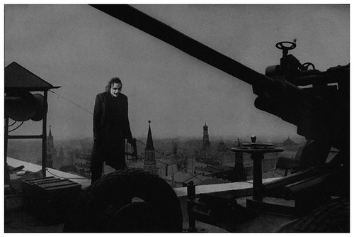 External post defense on the hotel roof. Moscow, 1941