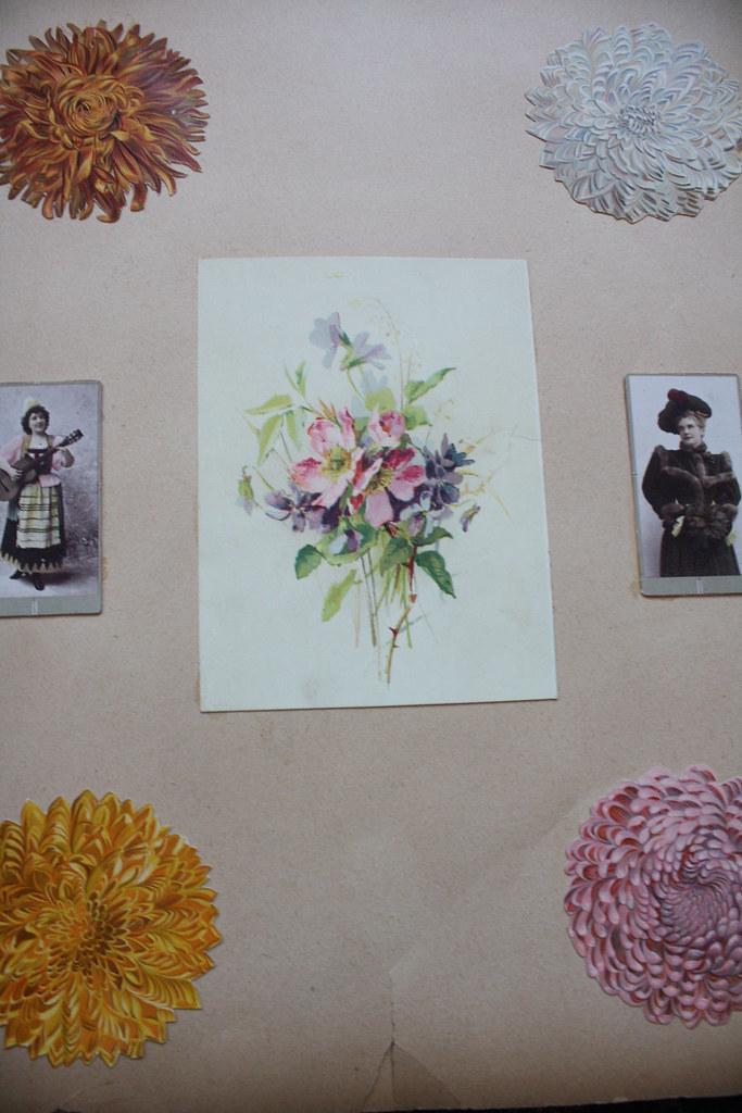 flower scrapbook page