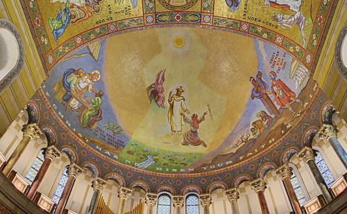 Cathedral Basilica of Saint Louis, in Saint Louis, Missouri, USA - Resurrection mosaic in east transept