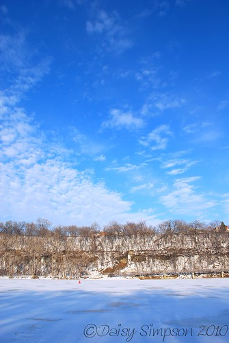 frozen river sky