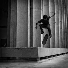 pop (b*wag) Tags: texas skateboarding tx houston skate skateboard trick nollieshuvit