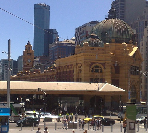 Flinders Street Station as seen from Fed Square