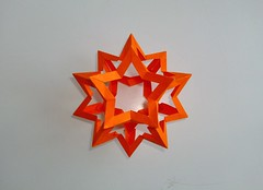 Star Dodecahedron top (mancinerie) Tags: origami paperfolding modularorigami francisow tomhull