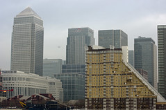 Canary Wharf in the mist (theaspiringphotographer) Tags: mist london docklands canarywharf financialsector