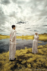 i just want............... (yoga - photowork) Tags: portrait sky people lake love canon indonesia lens landscape ir photography 350d wideangle canon350d infrared romantic 1022mm prewedding skintone