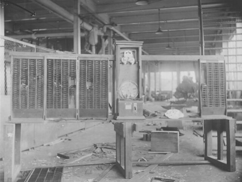 Fordlandia time clock, destroyed in the riot of December 1930.